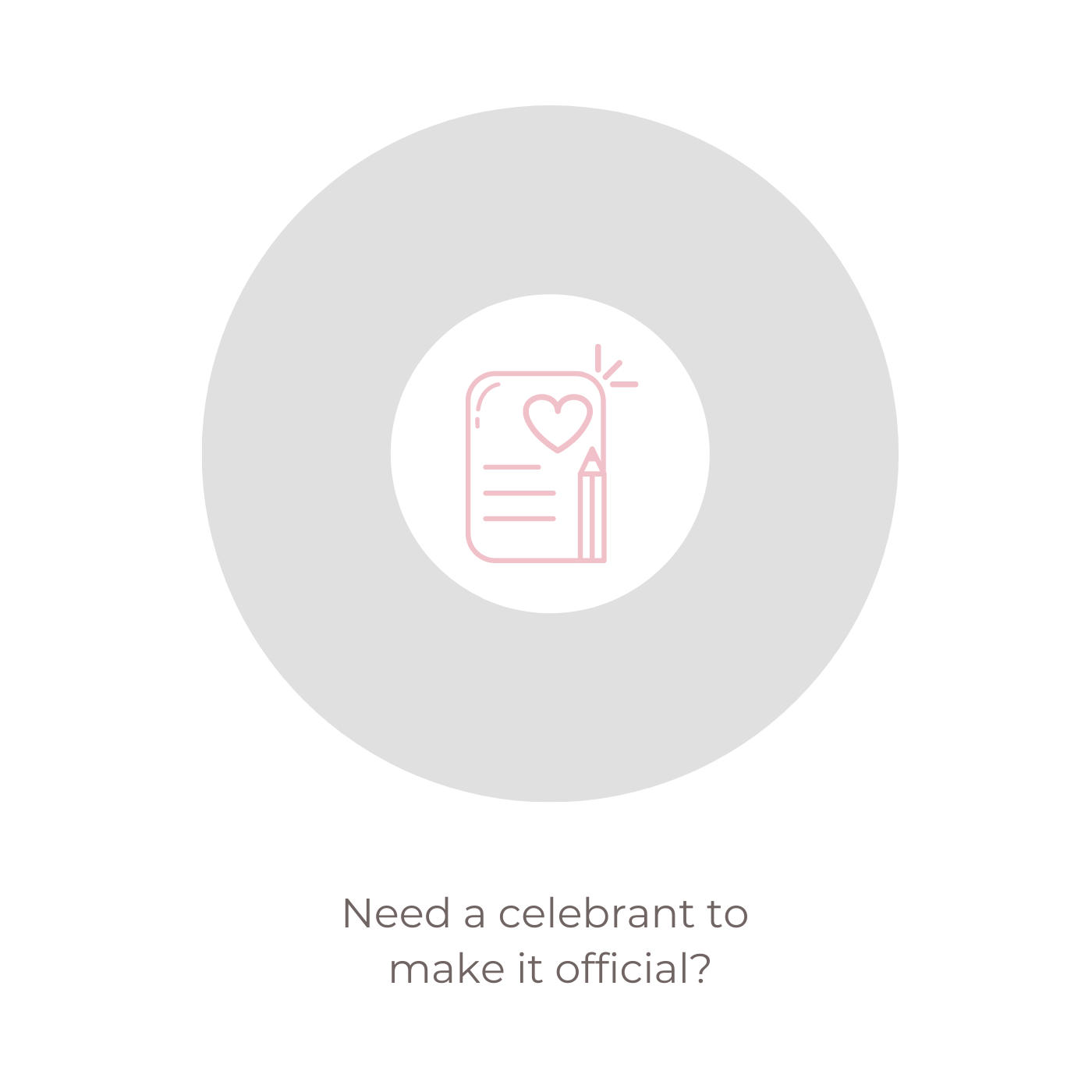Need a celebrant to make it official?