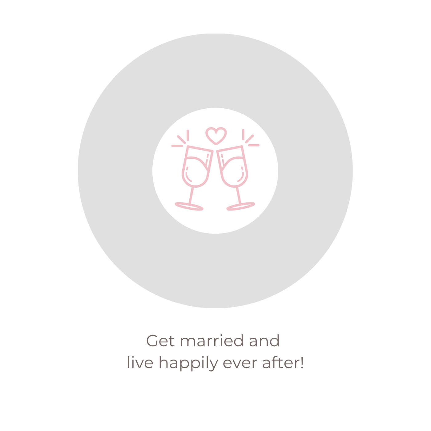 Get married and live happily ever after!